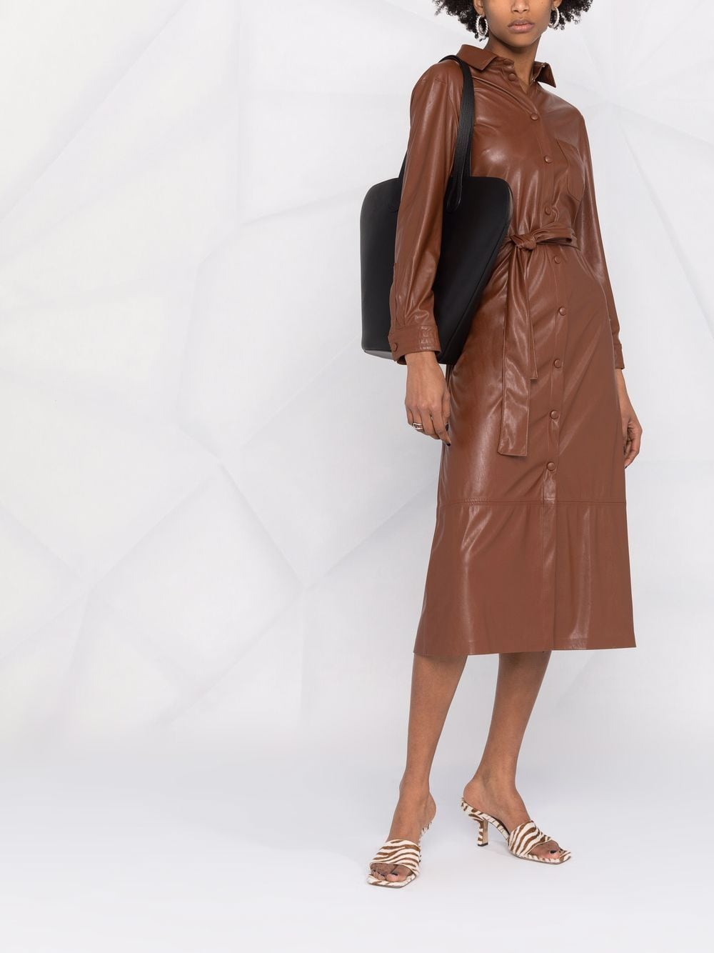 SHOPPING ON LINE PINKO ABITO CHEMISIER EFFETTO PELLE MARIS NEW COLLECTION WOMEN'S FALL/WINTER 2022