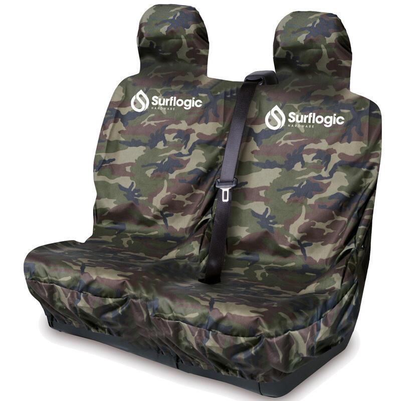 Coprisedile doppio Camouflage e nero