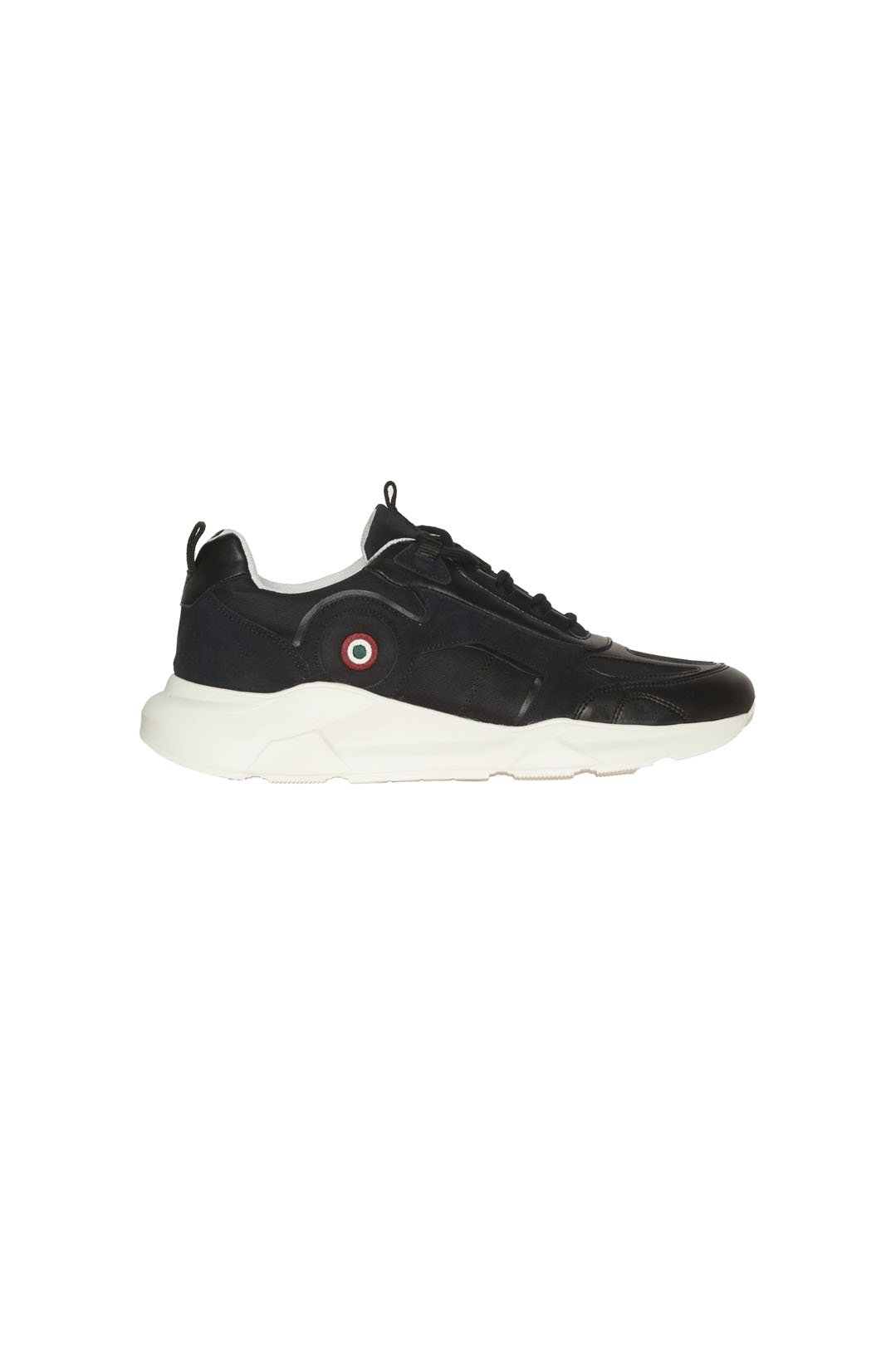 Suede and canvas sneakers with high sole 2