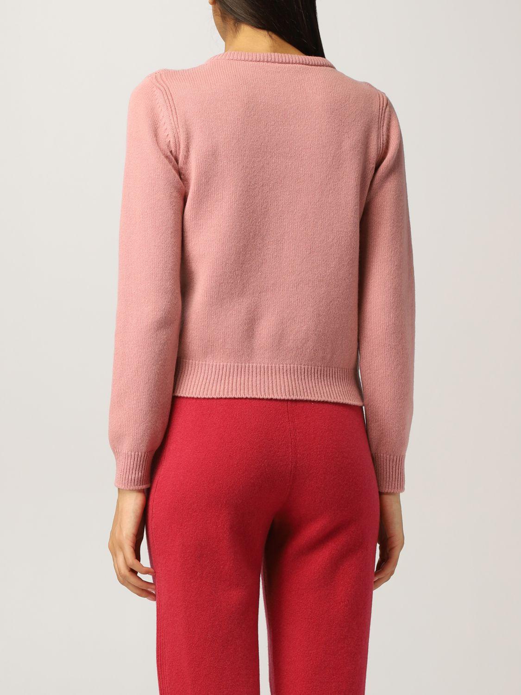 Maglioncino rosa girocollo Alberta Ferretti