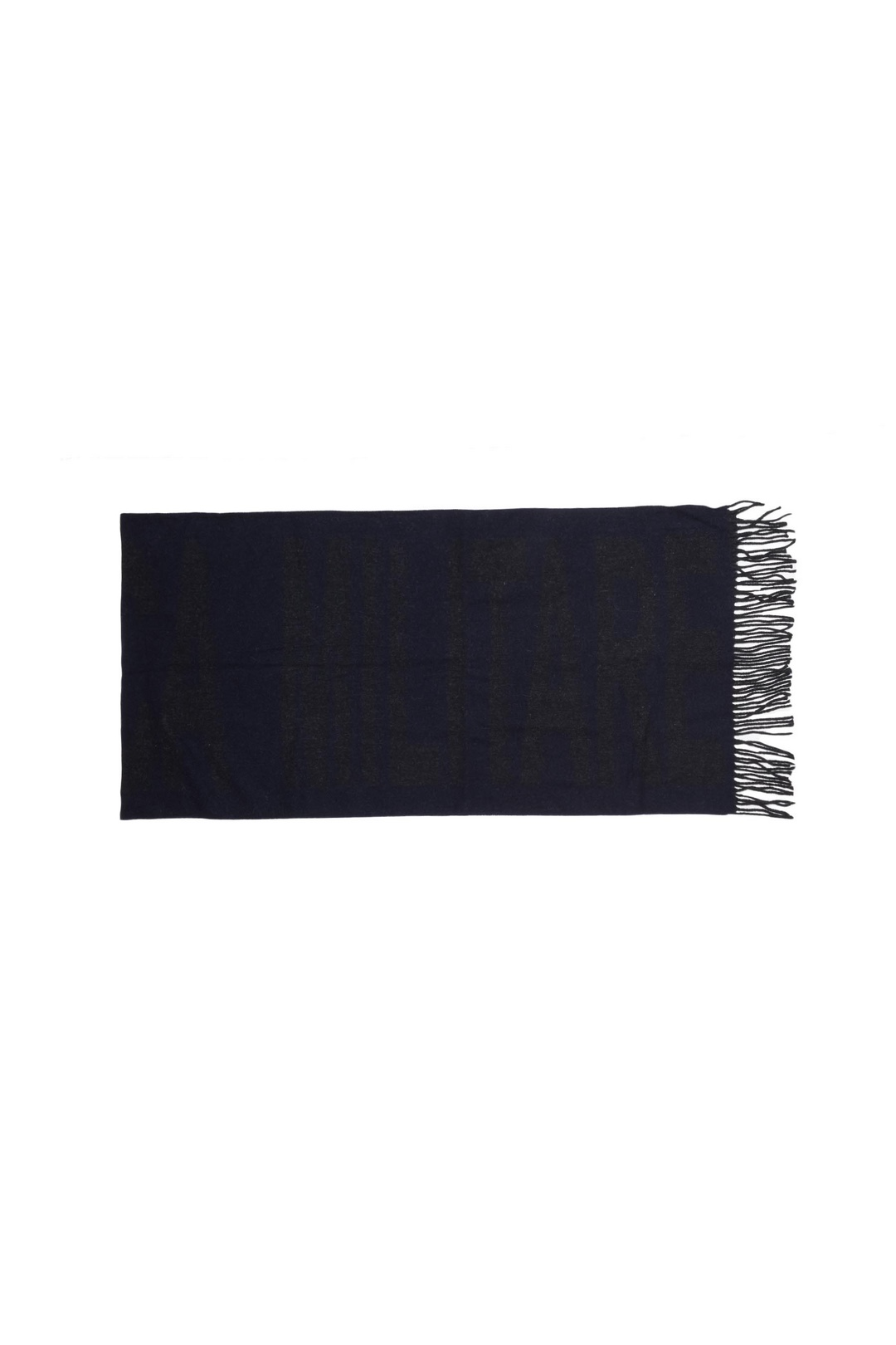 Wool scarf with logo                     2