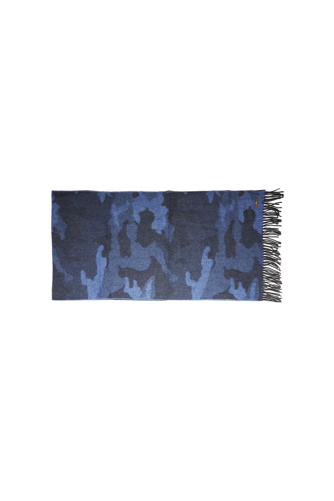 Women's wool camouflage scarf            2