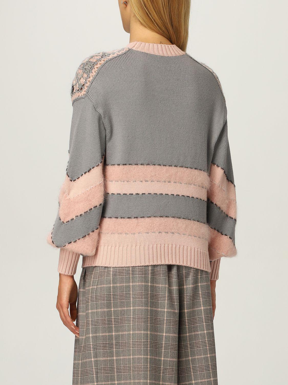 Maglione di lana a rombi Alberta Ferretti