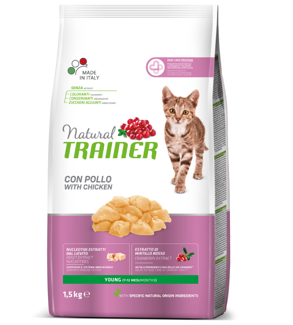 Trainer Natural Cat - Young - 1.5kg x 2 sacchi