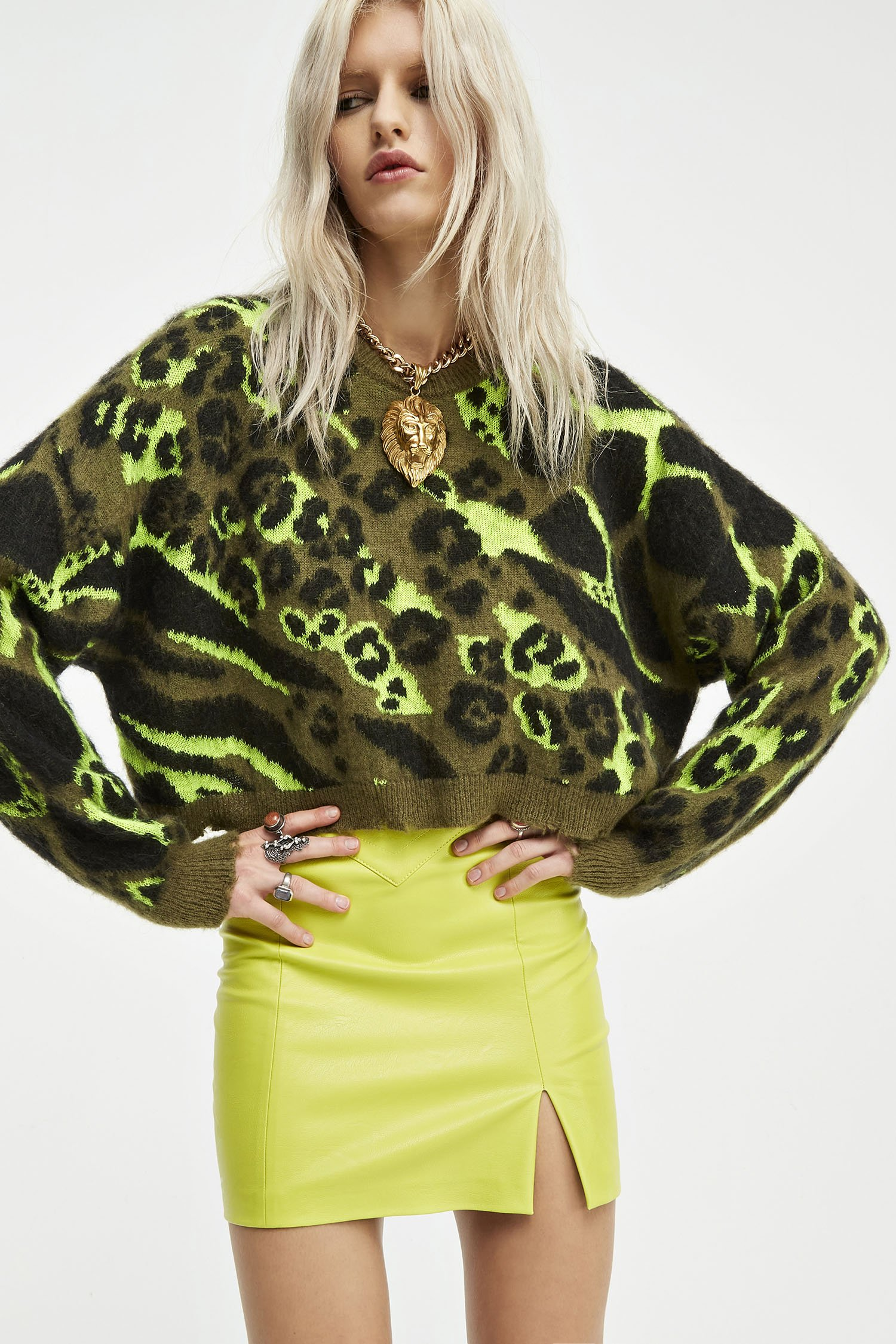 SHOPPING ON LINE ANIYE BY  PULLOVER CROP CAMOU  NEW COLLECTION  WOMEN'S FALL/WINTER 2022-2