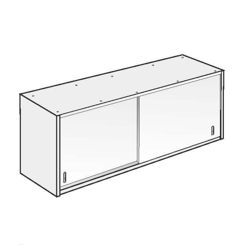 Pensile Inox AISI 304 - 1 Ripiano - L 160 x P 40 x H 60 cm