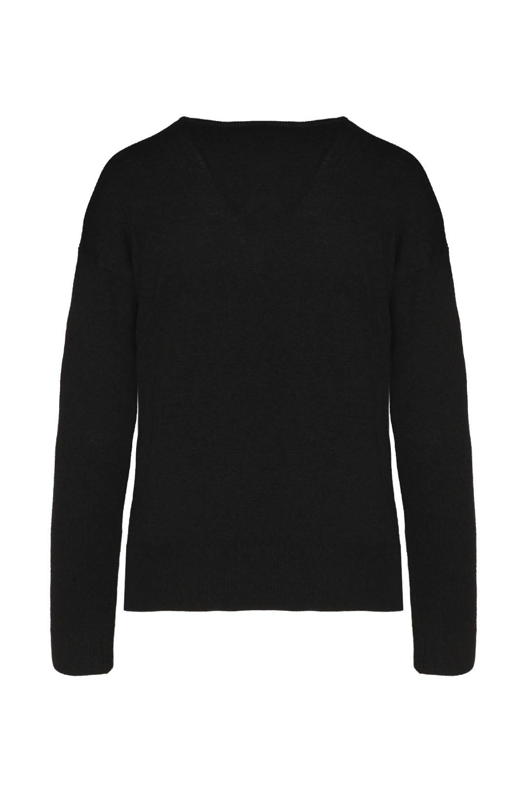 Cashmere blend sweater with eagle        2
