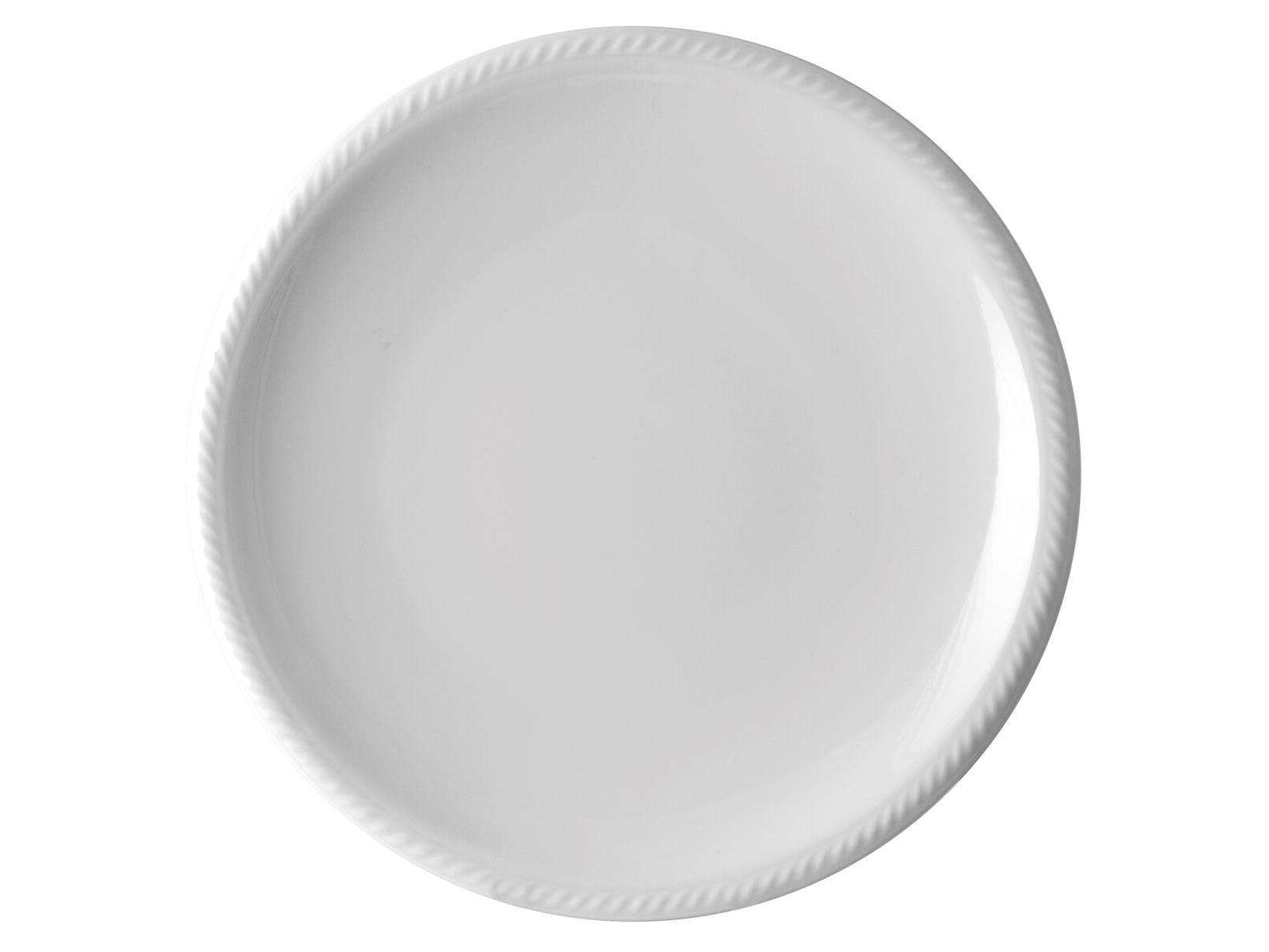Piatto In Porcellana Lido Bianco Tavola Piano Cm26