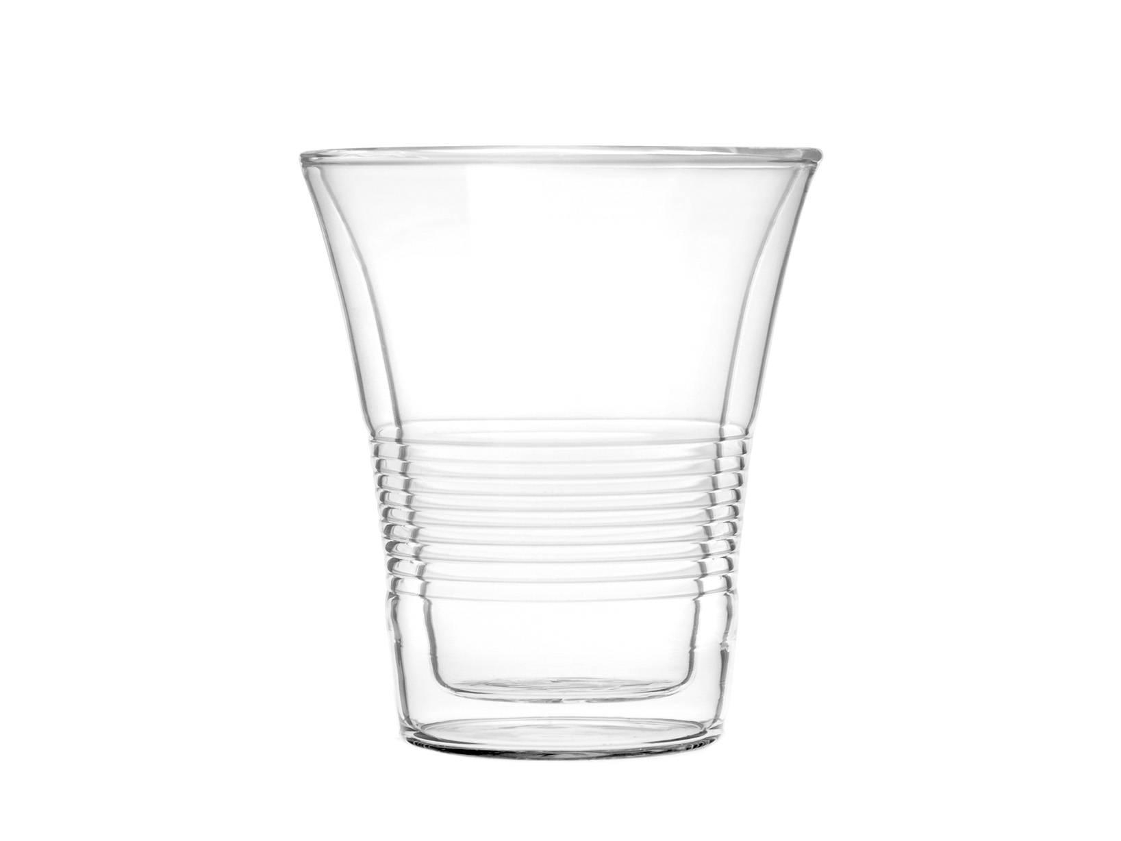 Set 2 Bicchieri Termici In Borosilicato, 220 Ml, Trasparente