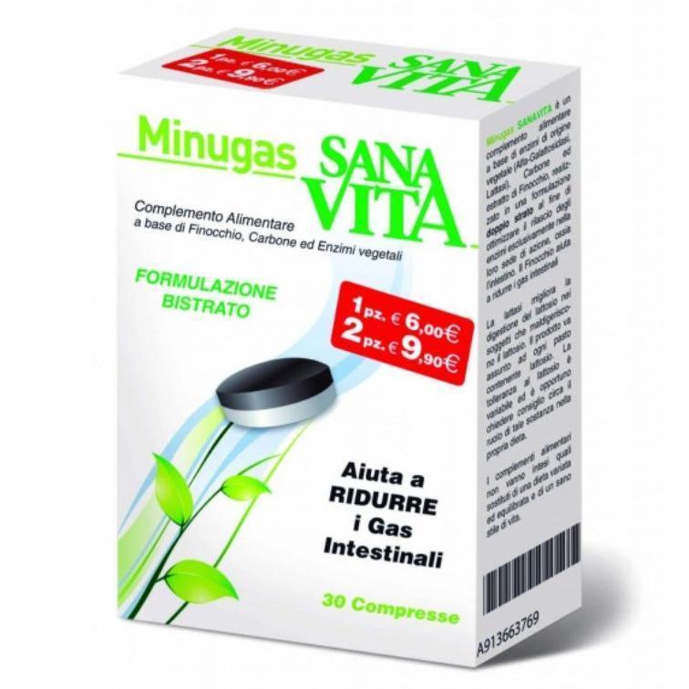 SANAVITA MINUGAS NEW COMPLEMENTO ALIMENTARE CHE AIUTA A RIDURRE I GAS INTESTINALI