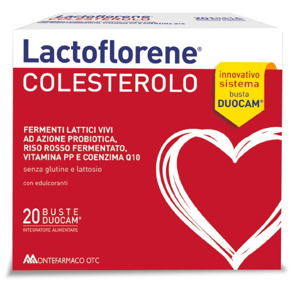 LACTOFLORENE COLESTEROLO CON FERMENTI LATTICI VIVI AD AZIONE PREBIOTICA E RISO ROSSO FERMENTATO