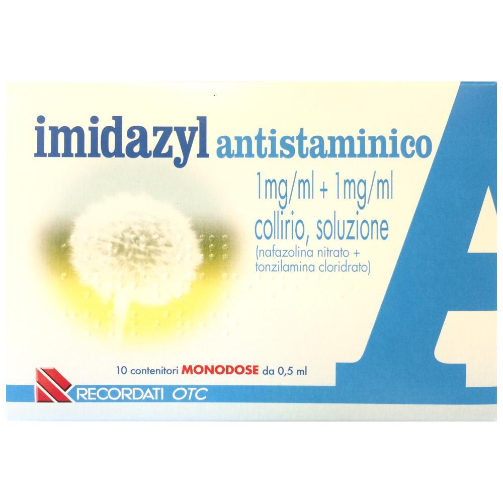 IMIDAZYL ANTISTAMINICO COLLIRO 10 FLACONCINI MONODOSE A BASE DI NAFAZOLINA