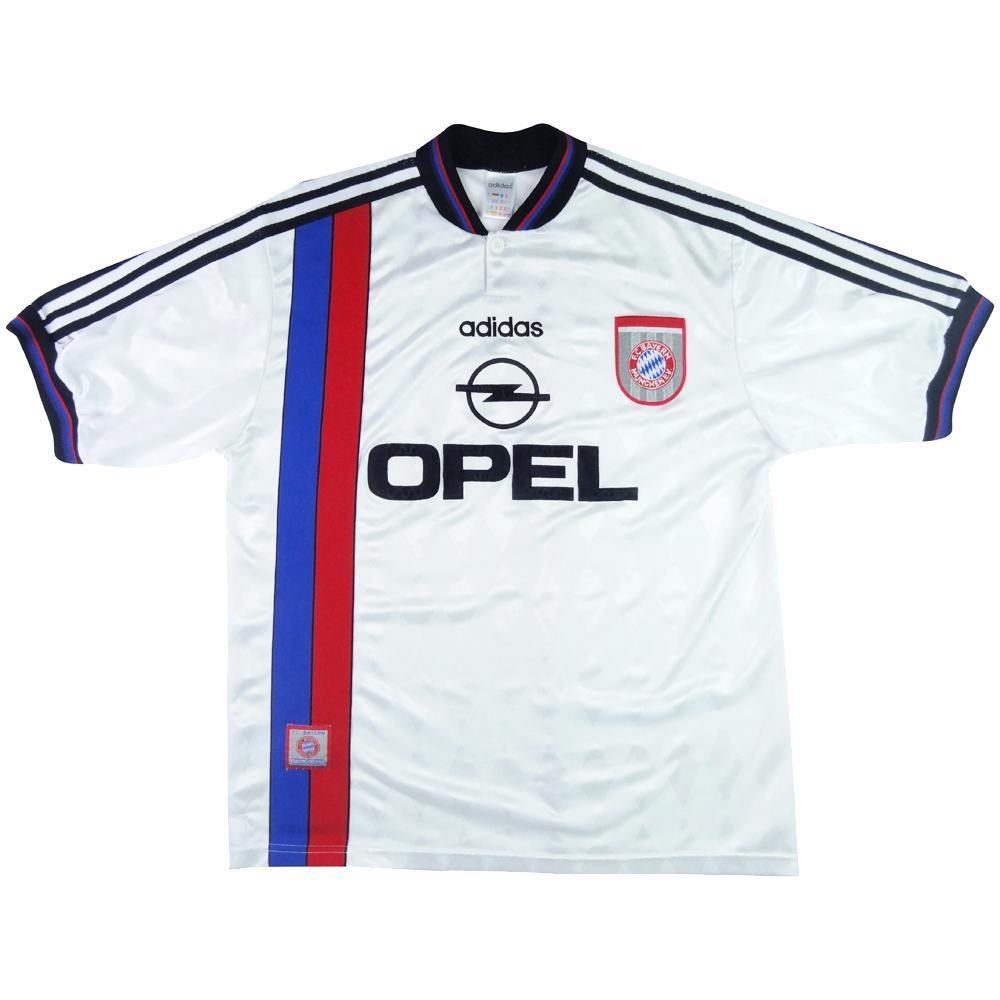 timeless design d6a2a aab89 1995-96 Bayern Munich Away shirt L