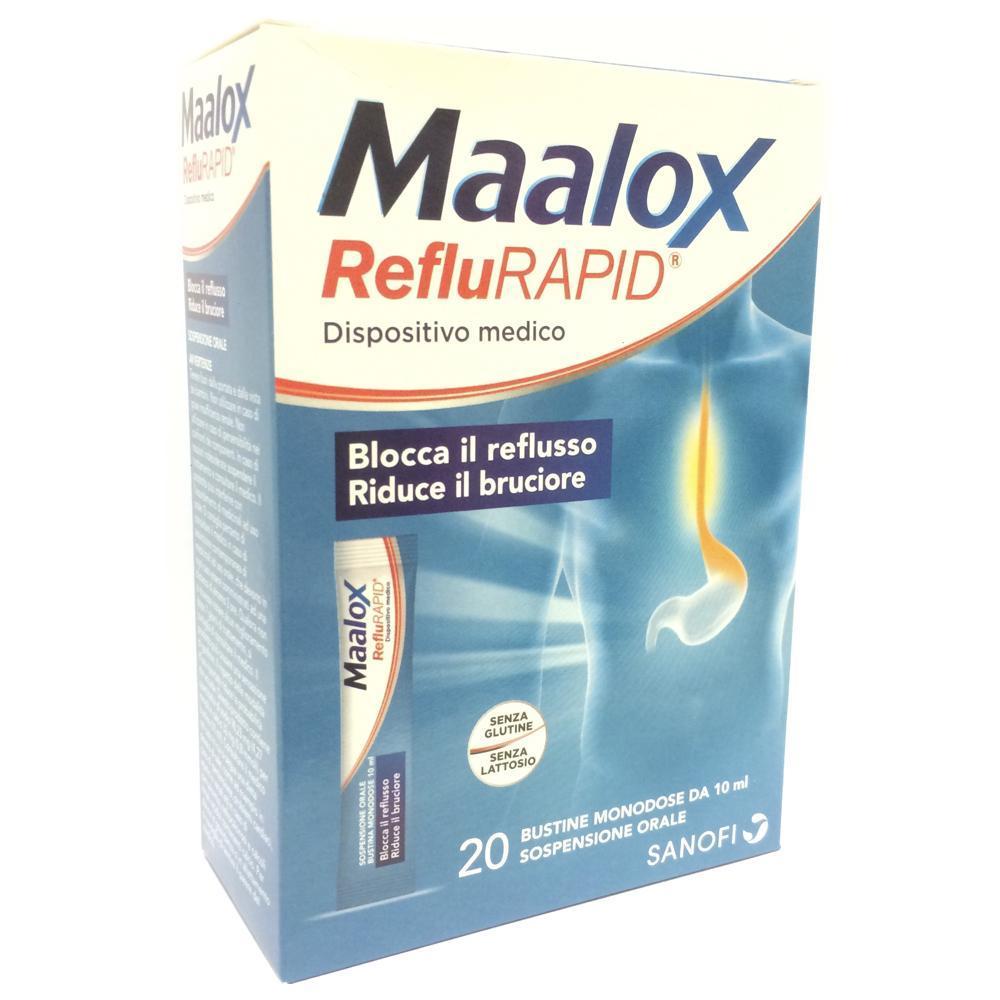 MAALOX REFLU RAPID: BUSTINE MONODOSE  - BLOCCA IL REFLUSSO, RIDUCE IL BRUCIORE