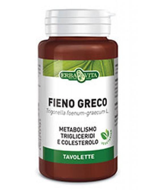 FIENO GRECO - INTEGRATORE PER COLESTEROLO ERBAVITA 400 MG 125 TAVOLETTE