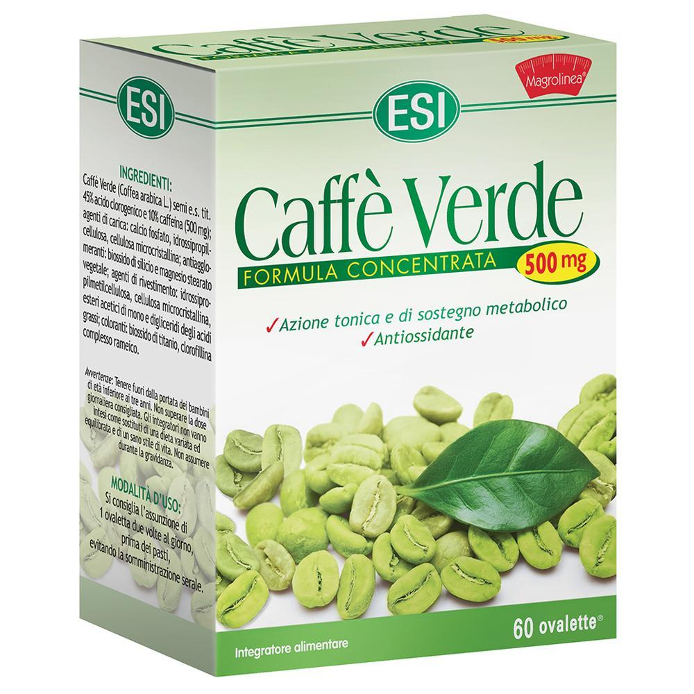 CAFFE' VERDE OVALETTE 500 MG - INTEGRATORE PER CONTROLLO DEL PESO