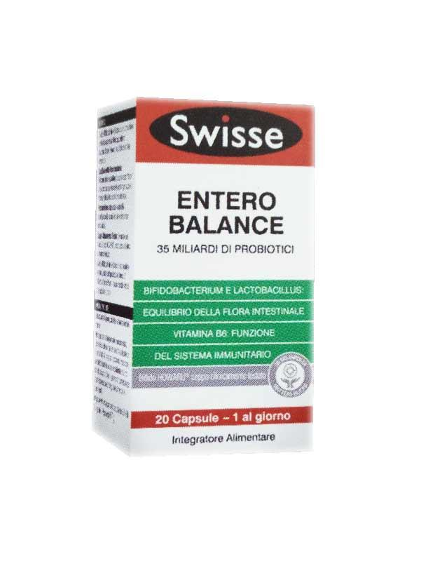 SWISSE ENTERO BALANCE - INTEGRATORE DI FERMENTI LATTICI PROBIOTICI 20 COMPRESSE