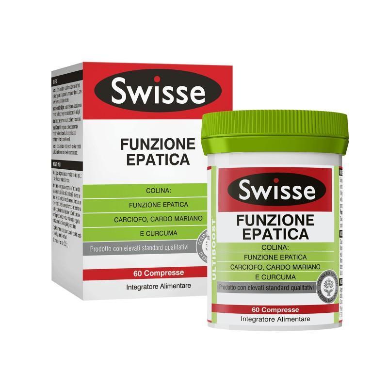 SWISSE FUNZIONE EPATICA - INTEGRATORE ALIMENTARE 60 COMPRESSE