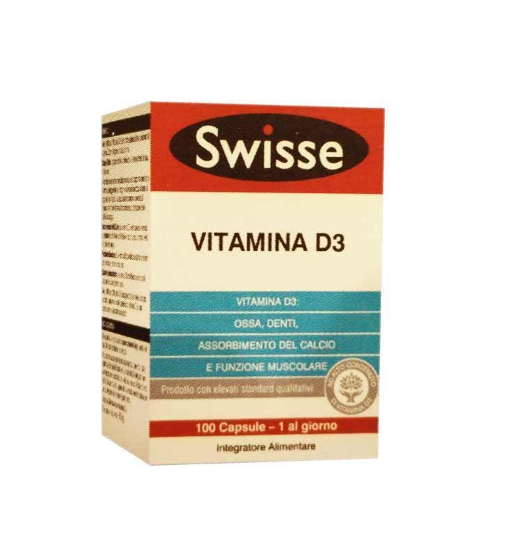 SWISSE VITAMINA D3 - INTEGRATORE PER OSSA E DENTI 100 CAPSULE