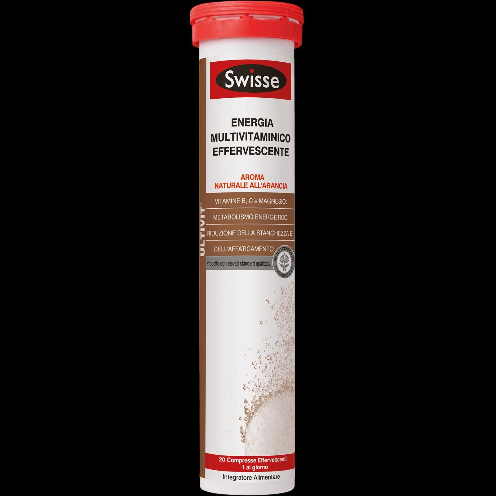 SWISSE ENERGIA MULTIVITAMINICO EFFERVESCENTE - INTEGRATORE ENERGIZZANTE 20 COMPRESSE