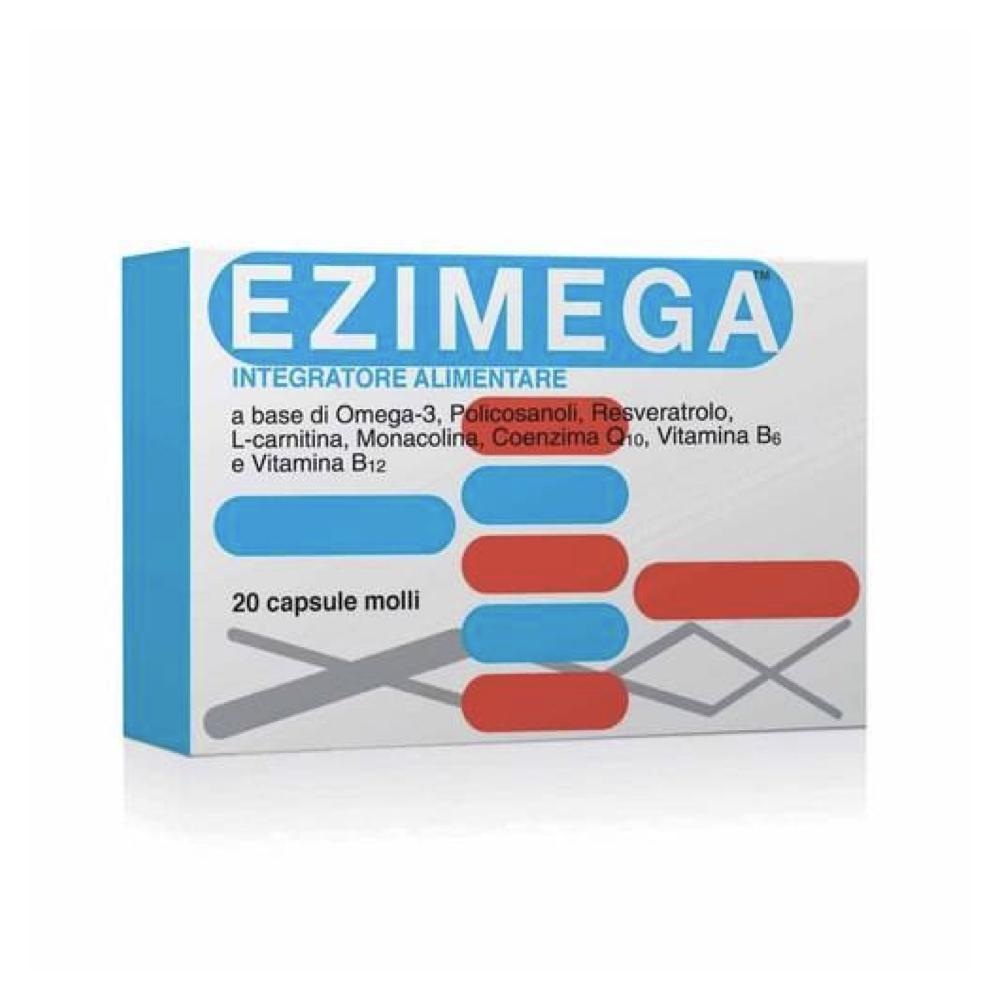 EZIMEGA - INTEGRATORE ALIMENTARE PER CONTROLLARE IL COLESTEROLO 20 CAPSULE-2