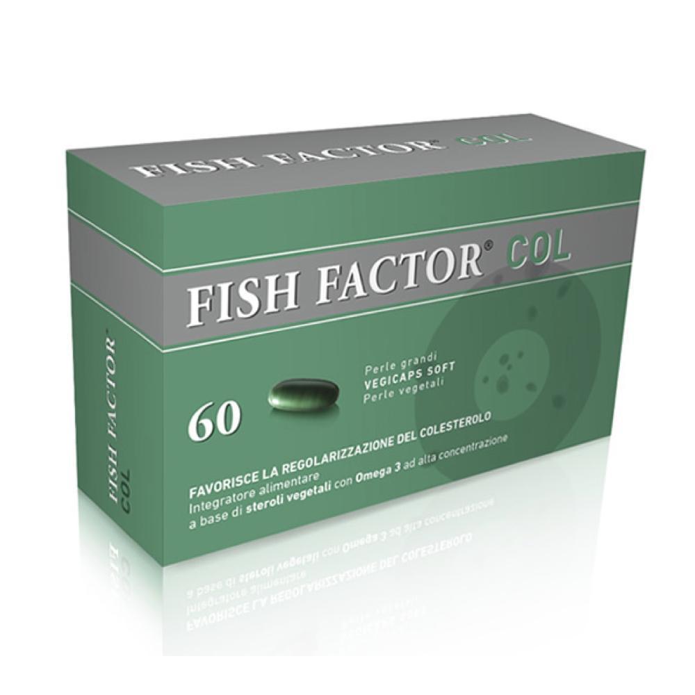 FISH FACTOR COL - INTEGRATORE DI STEROLI VEGETALI PER CONTROLLARE IL COLESTEROLO 60 PERLE GRANDI