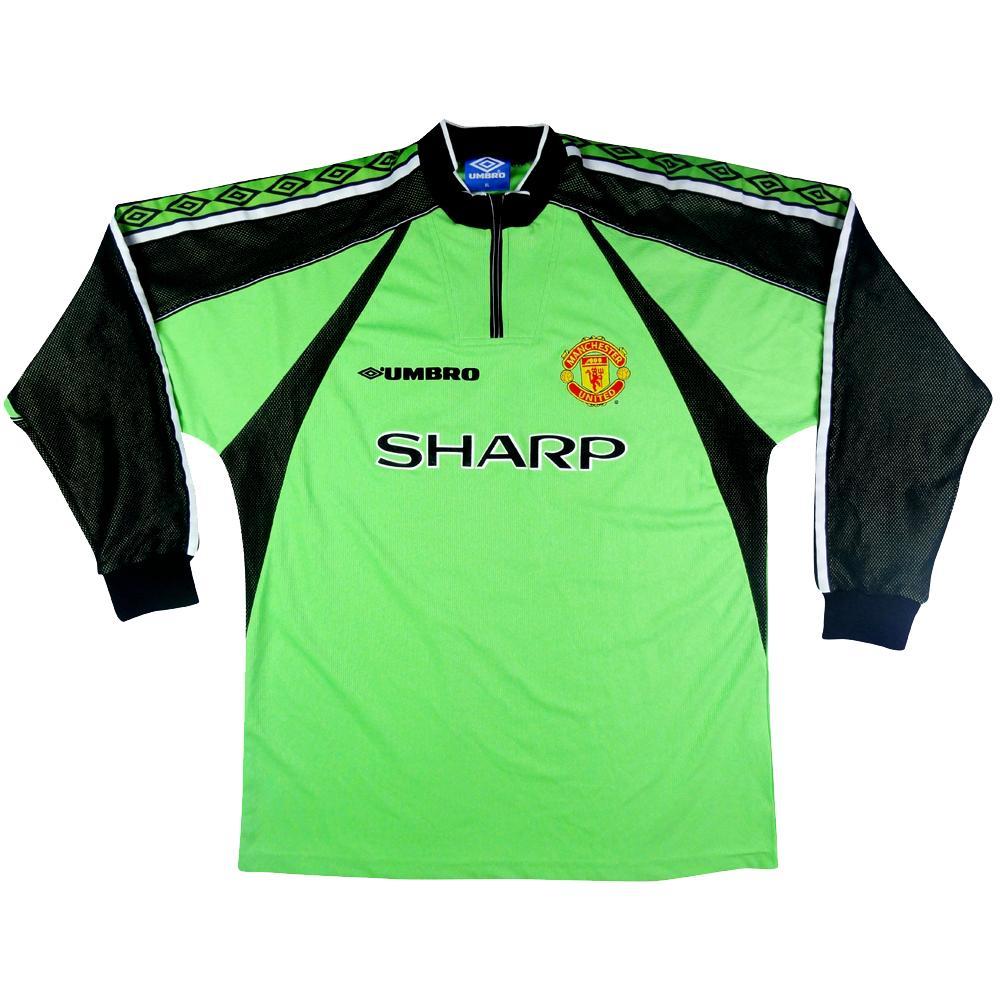 cac26da0246 1998-99 Manchester United goalkeeper shirt XL # 12 (Top) - TOP VINTAGE  FOOTBALL