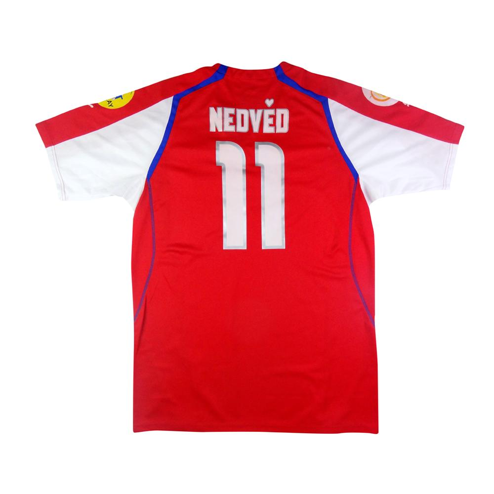 06545903c 2004 Czech Republic vs Germany Home Jersey Nedved  11 XL (Top) - TOP  VINTAGE FOOTBALL