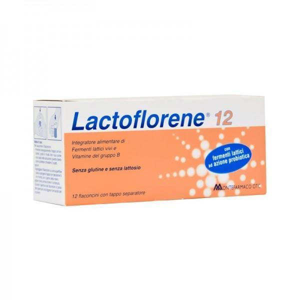 LACTOFLORENE 12 - FERMENTI LATTICI SENZA GLUTINE E LATTOSIO IN FLACONCINI
