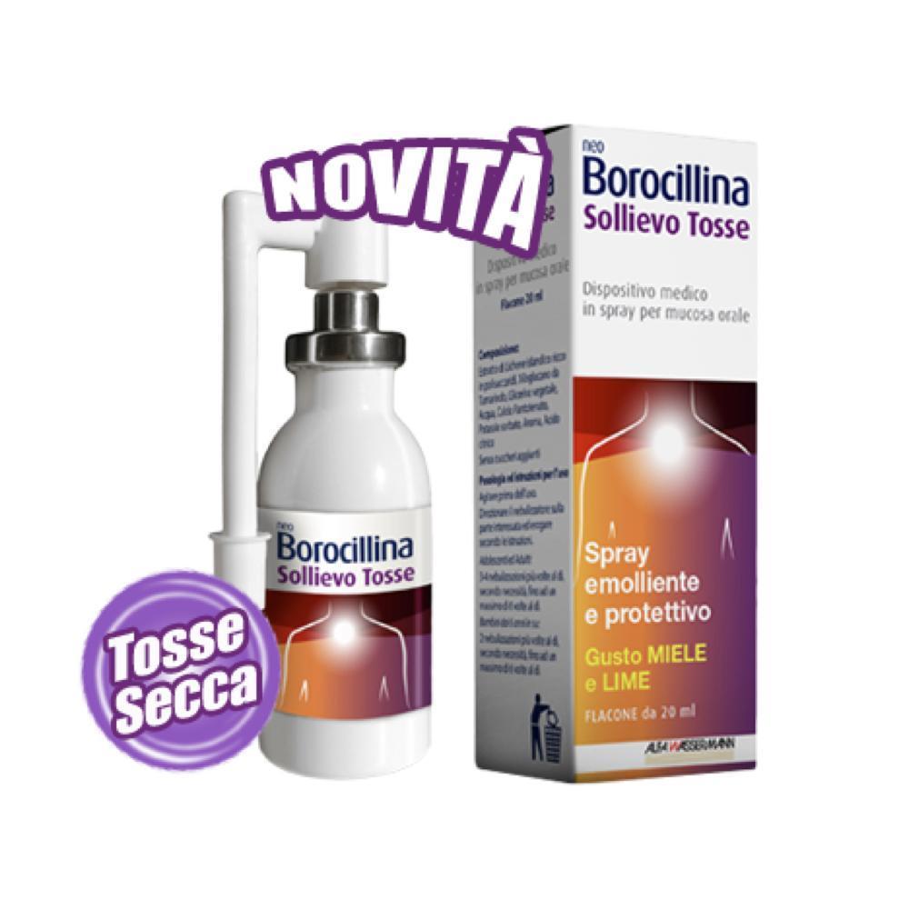 NEOBOROCILLINA SOLLIEVO TOSSE - SPRAY PER TOSSE SECCA, RAUCEDINE, OROFARINGITI