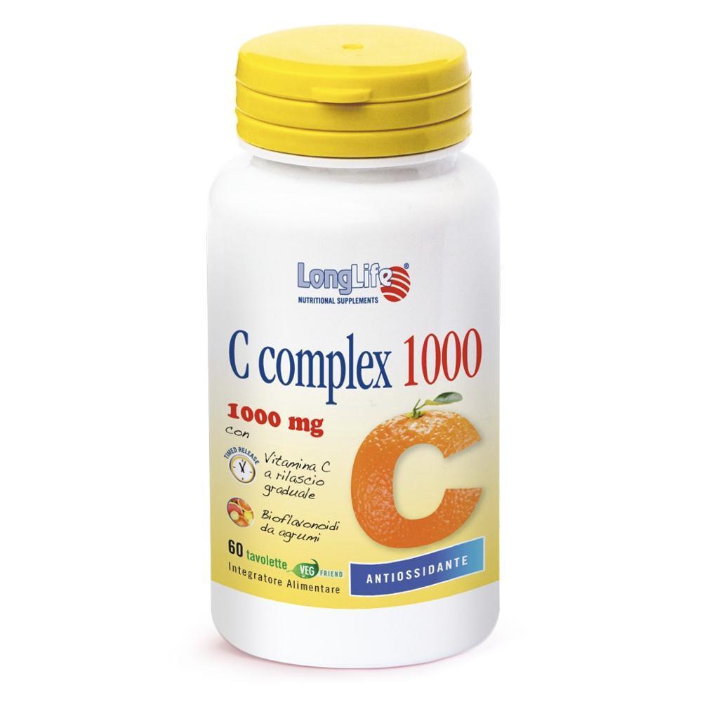 LONGLIFE C COMPLEX 1000 - INTEGRATORE ALIMENTARE DI VITAMINA C A RILASCIO GRADUALE 60 TAVOLETTE