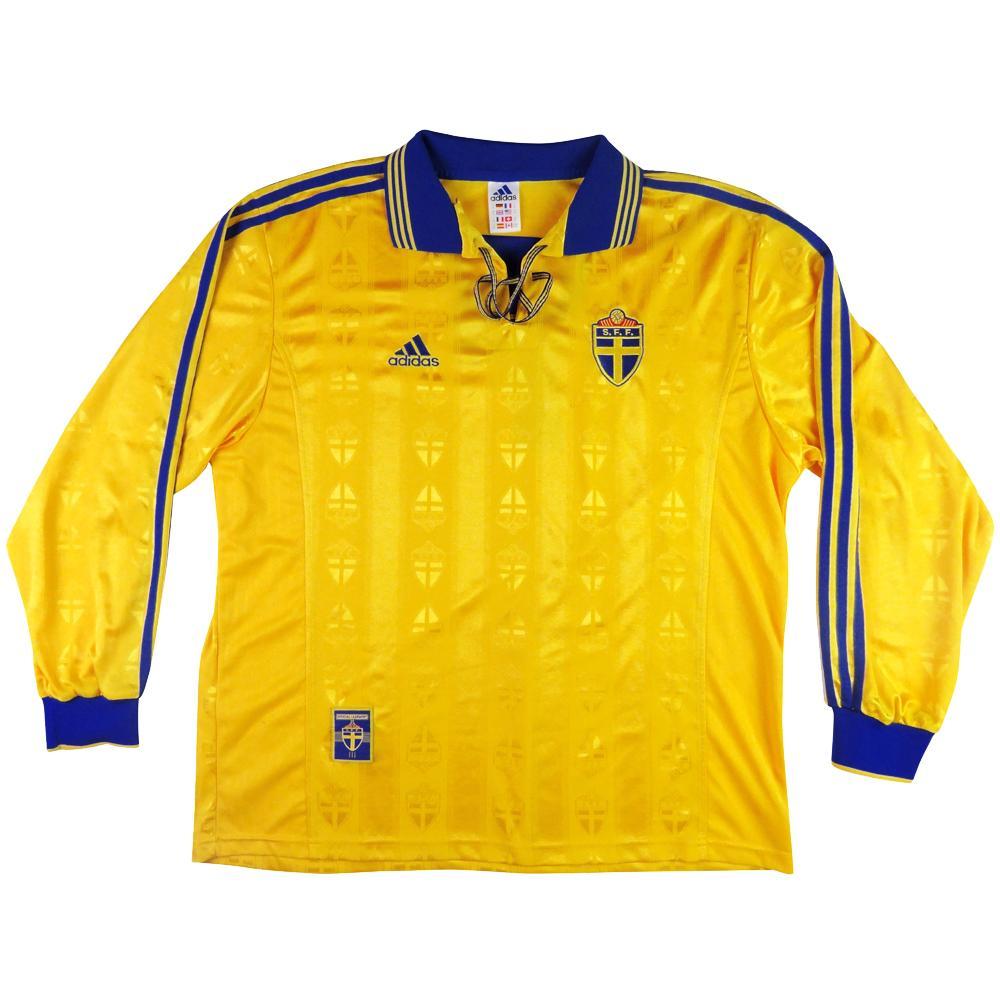 eab2e048342 1998-99 Sweden Shirt Player Issue Home XL - TOP VINTAGE FOOTBALL