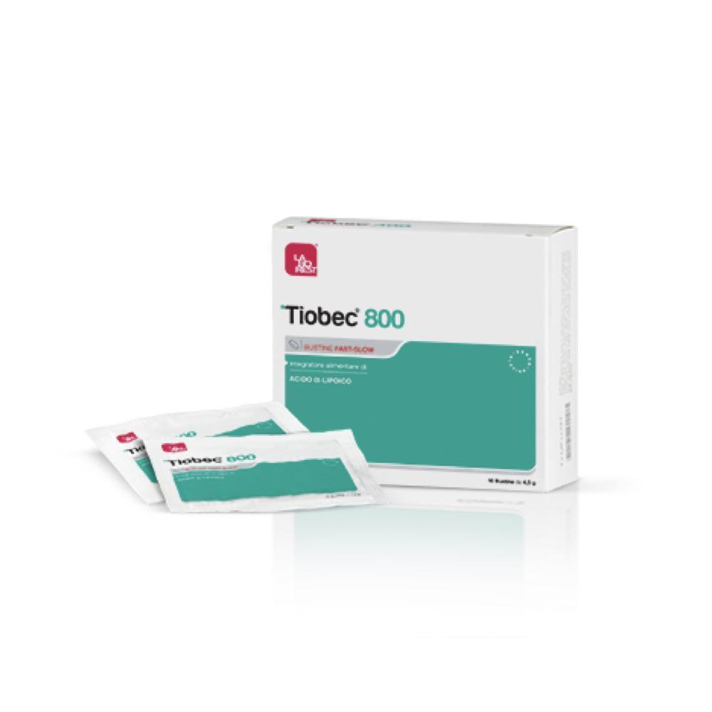 TIOBEC 800 - INTEGRATORE A BASE DI ACIDO ALFA-LIPOICO 800 MG 10 BUSTE