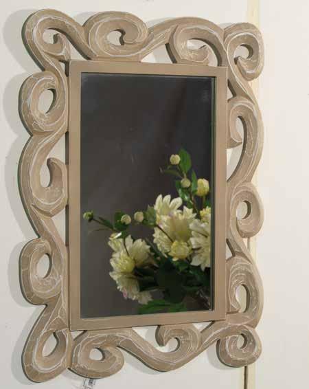 Specchio legno pressato tinta naturale shabby chic Old & New ...
