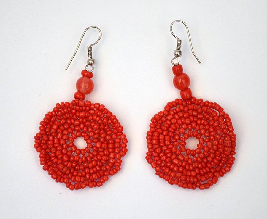 nuovo di zecca 6292d c5c14 Orecchini con perline rosse
