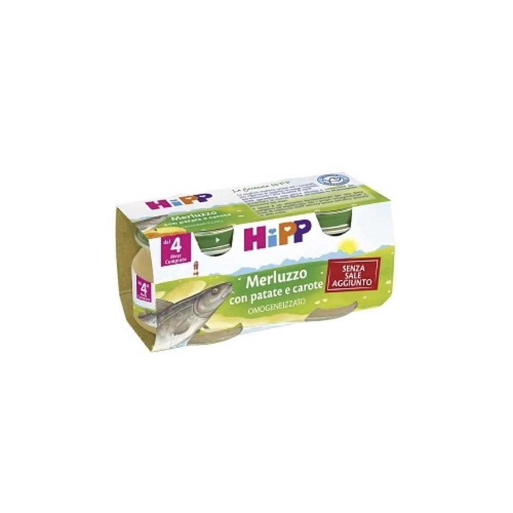 HIPP BIOLOGICO MERLUZZO CAROTE E PATATE - OMOGENIZZATO DAL 4 MESE COMPIUTO
