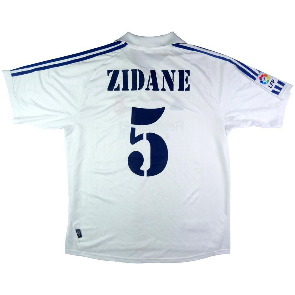 online store 356bc 967a2 2001 Real Madrid shirt Home L Zidane #5 (Top)