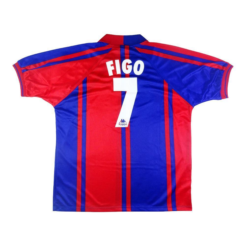 wholesale dealer f5902 a6d8b 1997-98 Barcelona Shirt Home #7 Figo (Top)