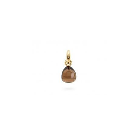 5dce1404eff98 OLE LYNGGAARD COPENHAGEN - SWEET DROPS CHARM YELLOW GOLD AND SMOKY QUARTZ -  Patricia Papenberg Jewelry