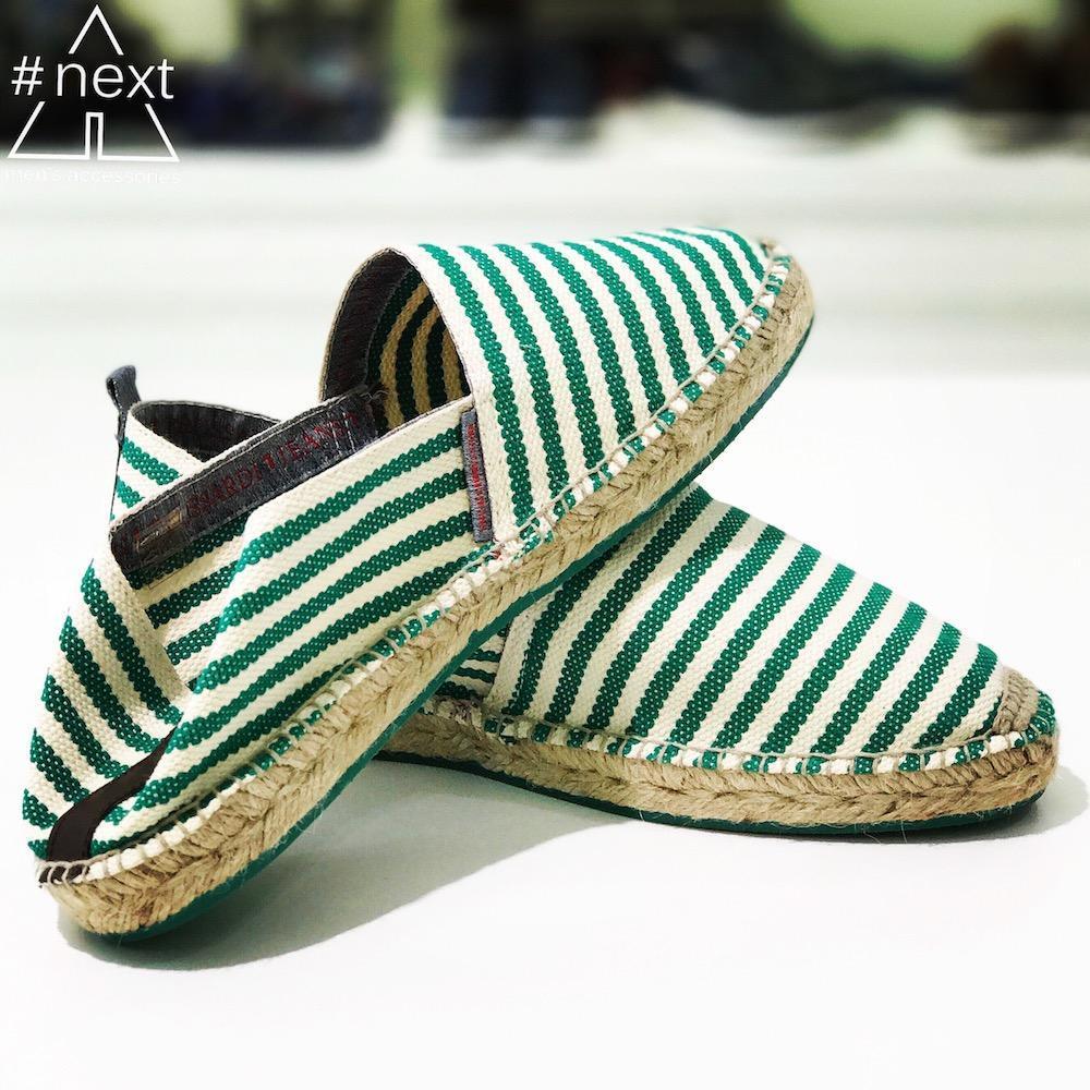 074f8447703c02 Trussardi Jeans - Espadrillas righe bianco verde - ANDY #NEXT