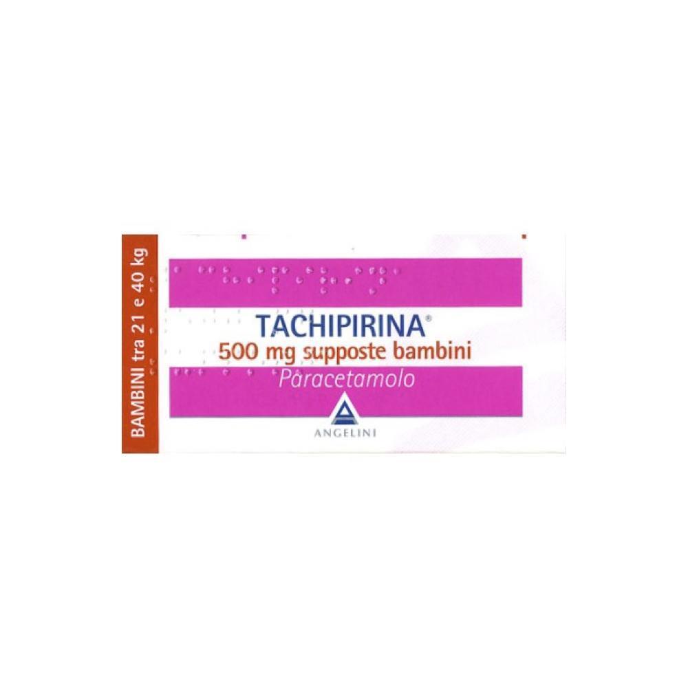 TACHIPIRINA 500 MG SUPPOSTE BAMBINI TRA 21 E 40 KG