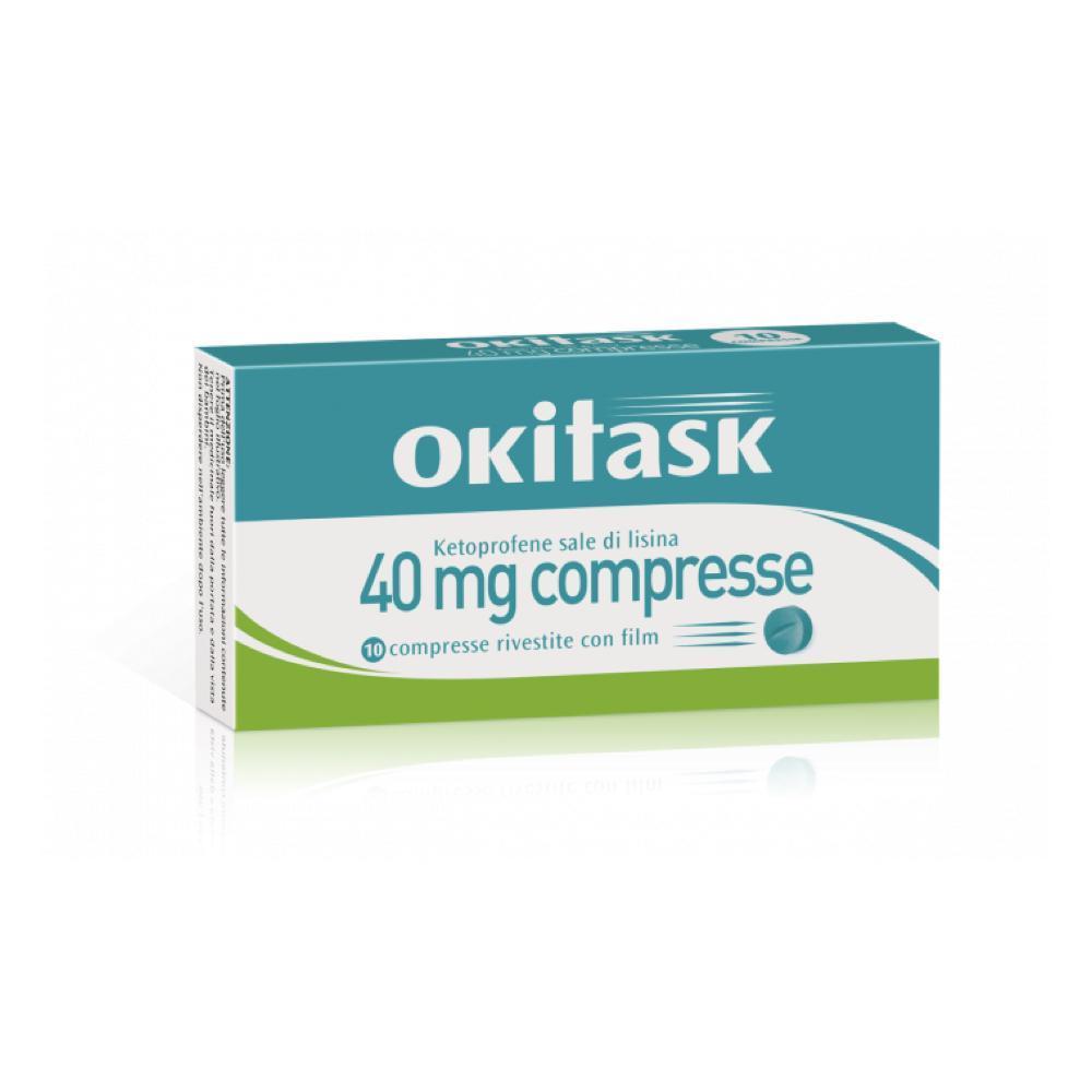 OKITASK COMPRESSE A BASE DI KETOPROFENE SALE DI LISINA 40MG UTILE COME ANALGESICO