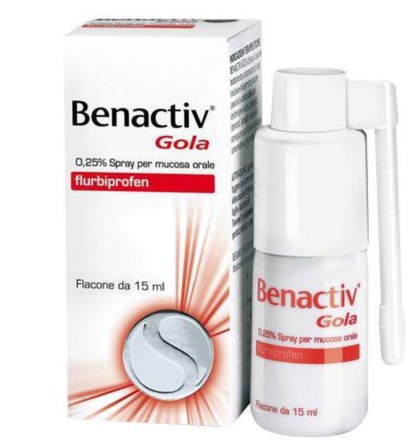 BENACTIV GOLA SPRAY A BASE DI FLURBIPROFENE 15 ML
