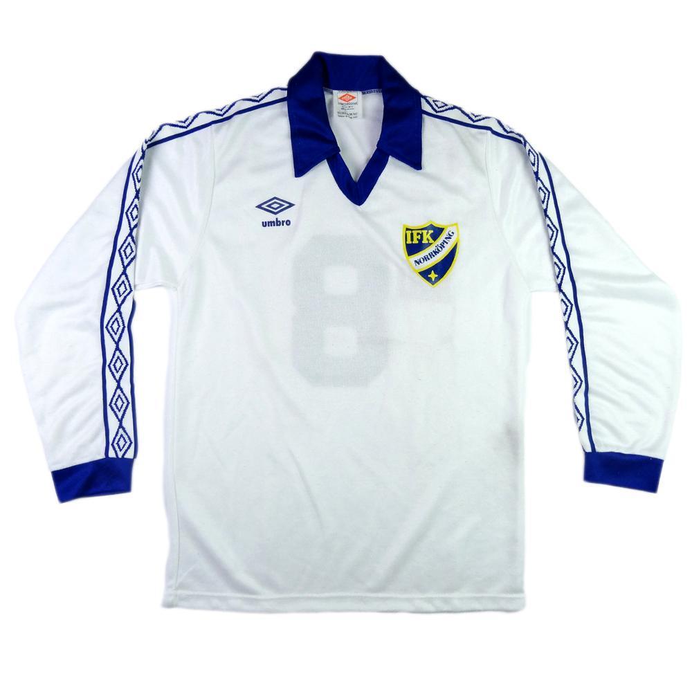 2fa5a5a97ab 1982-83 IFK Norrköping Home Match Worn SHIRT  8 vs Roma - TOP VINTAGE  FOOTBALL