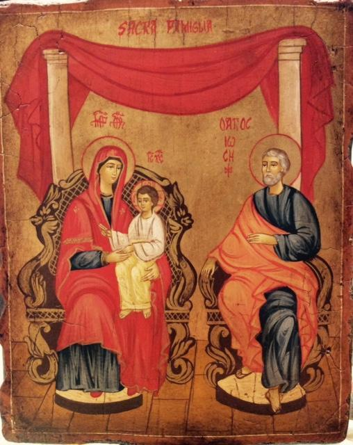 Icona rumena dipinta sacra famiglia regale pietrobon for Pietrobon arredi sacri