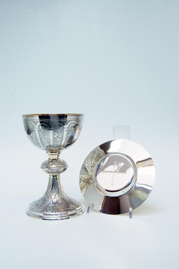 Calice tutto in argento con patena molace1000 pietrobon for Pietrobon arredi sacri