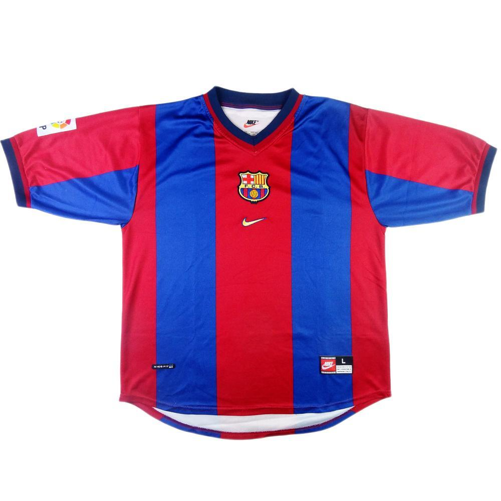 aaf2744ff85 1998-00 Barcelona Home Shirt L (Top) - TOP VINTAGE FOOTBALL