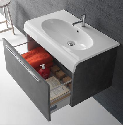 Mobile da bagno con lavabo cm 80 x 50 Bowl+ Globo - Il Bernini