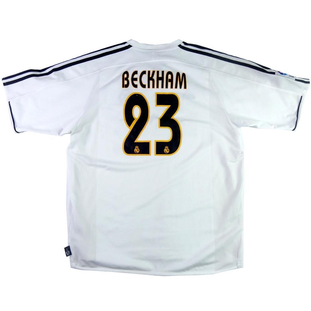 buy popular 13de0 cbfb6 2003-04 Real Madrid SHIRT #23 Beckham Home XL (Top)