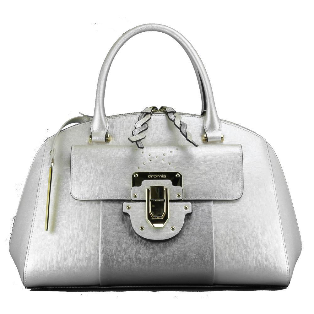 detailed look 8c0e5 595ad Hand and shoulder bag Cromia MELANIA 1403695 PLATINO+ARGENTO